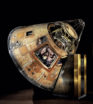 Apollo 11 command module Columbia in Milestones of Flight