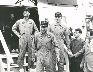 Apollo 13 Astronauts on the U.S.S. Iwo Jima