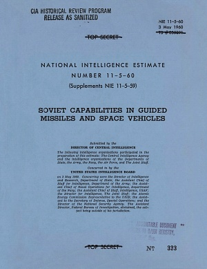 CIA Estimate - Soviet Space Program