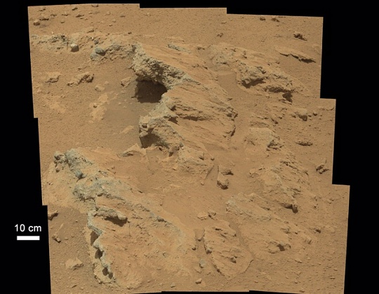 Ancient Streambed on Mars