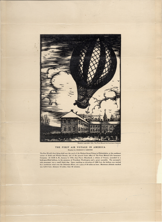 The First Air Voyage in North America