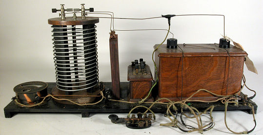 Transmitter, Spark, Telegraph, J.A.D. McCurdy, Early Airplane Radio Experiment