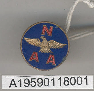 Pin, Lapel, National Aeronautic Association, Glenn L. Martin