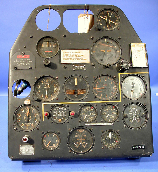 Instrument Panel, P-59A