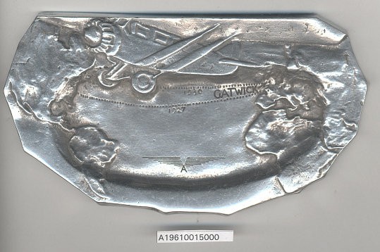 "Ashtray, Wright-Bellanca W.B. 2 ""Columbia"""