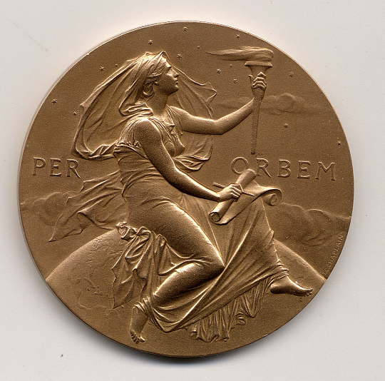 Langley Medal, Smithsonian Institution, 1960, Robert Goddard, Reproduction
