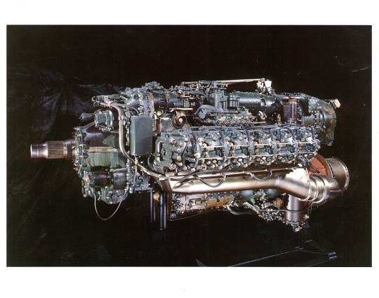 Napier Nomad Model E. 145 Horizontally-opposed Diesel Engine