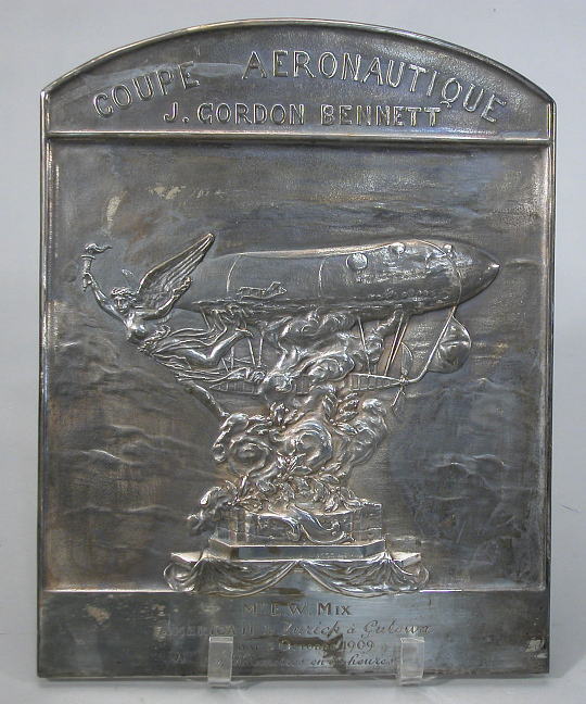 Plaque, James Gordon Bennett, 1909, Edgar W. Mix
