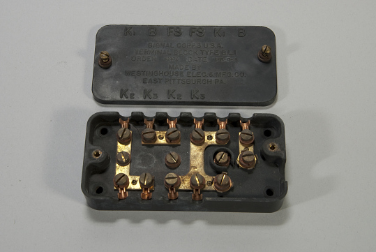 Terminal Block, Aircraft Radio Set, B.L.1, SCR-68