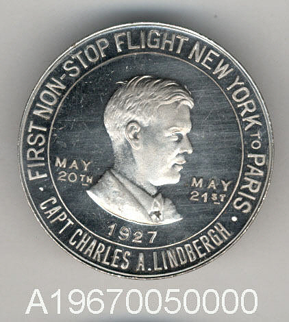 Token, Commemorative, Charles A. Lindbergh