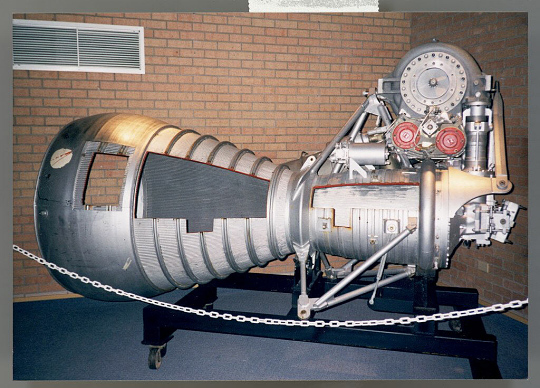 Rocket Engine, Liquid Fuel, H-1, Cutaway