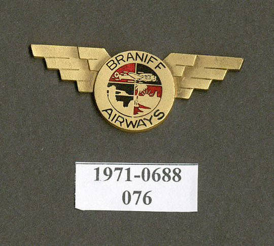 Badge, Cap, Braniff Airways