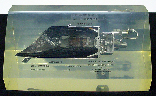 Rocket Engine, Liquid Fuel, Orbital Attitude Maneuvering System (OAMS),Gemini 8