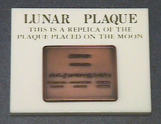 Plaque, Commemorative, Lunar Landing, Lombardo Mint