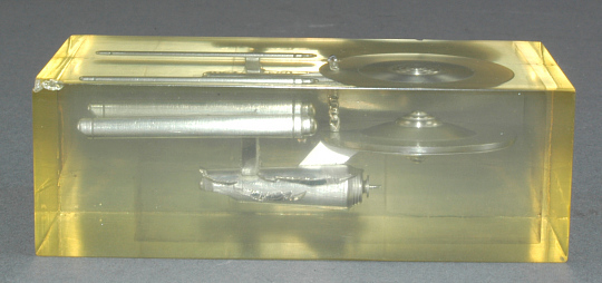 "Model, Starship Enterprise, in clear plastic block, ""Star Trek"""