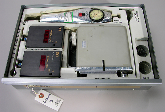 Tray B, Test Equipment Kit, Skylab
