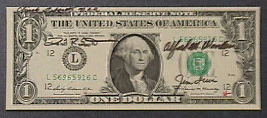 One Dollar Bill, Apollo 15