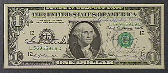 One Dollar Bill, Apollo 16