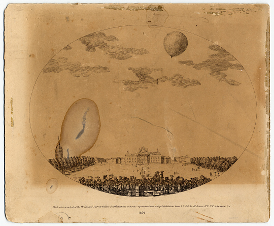 Photo-zincograph of Balloon in Flight, 1864.