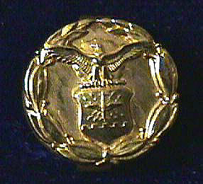 Lapel Button, Exceptional Civilian Service, U.S. Air Force, 1967, C. Draper