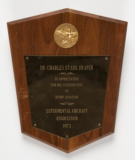Plaque, Experimental Aircraft Association, 1973, Charles Draper
