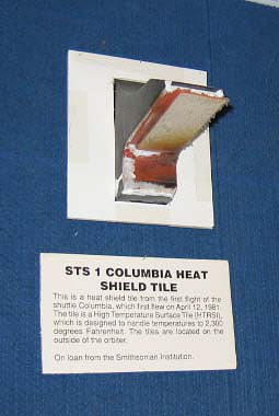 Tile, Shuttle Insulation, Black, STS-1