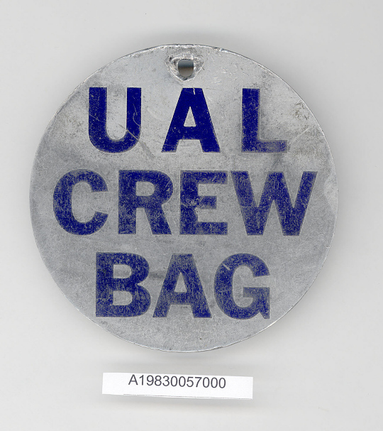 Tag, Baggage, United Air Lines