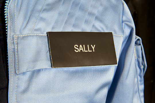 Name Tag, In-Flight Suit, Shuttle, Sally Ride, STS-7