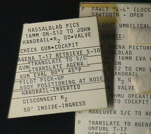 Checklist Card, Hasselblad Pictures, Gemini 10