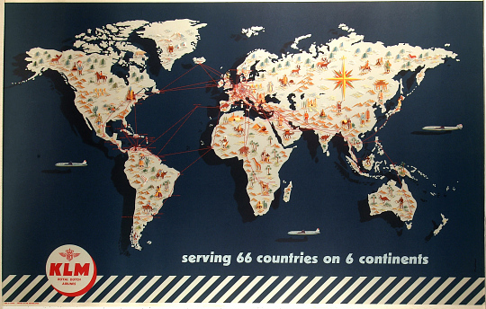 KLM Serving 66 Countries On 6 Continents