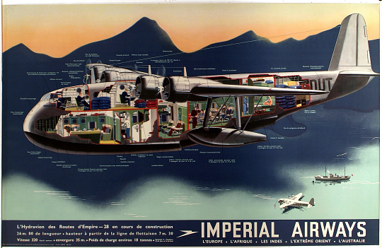 Imperial Airways L'Hydravion des routes d'Empire-28 en cours de Construction