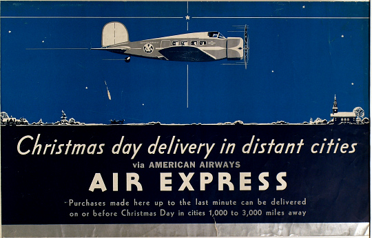 Christmas Day Delivery in Distant Cities via American Airways Air Express