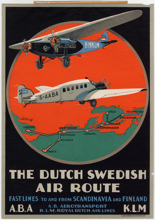 The Dutch Swedish Air Route Fastlines to and from Scandinavia and Finland