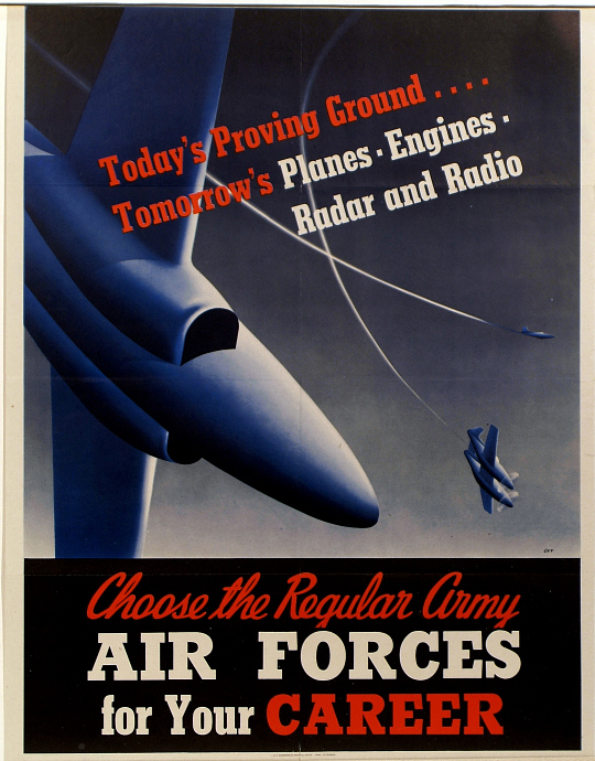 Choose the Regular Army Air Forces for your Career