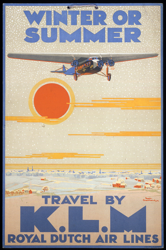 Winter or Summer Travel by K.L.M Royal Dutch Air Lines
