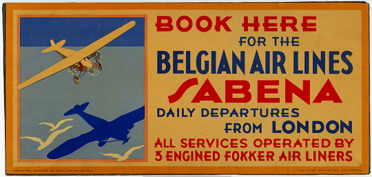 Book Here for the Belgian Air Lines Sabena