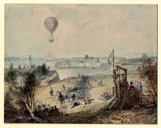 Mr. Green and Capt. Curry ascended in the albion balloon, Weymouth, Dorset