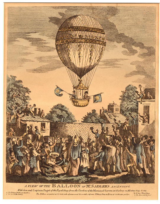 A View of the Balloon of Mr. Sadler's Ascending