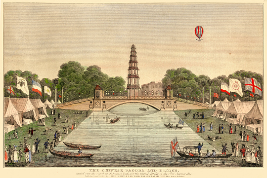 The Chinese Pagoda and Bridge