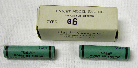 Motors, Model Rocket, Set, Uni-Jet Co.