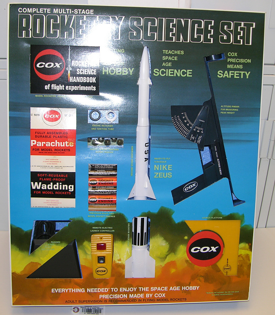 Rocket, Flying Model and Rocketry Science Set, Nike Zeus, L. M. Cox, 1:24