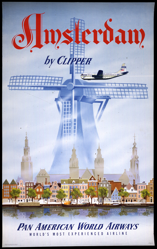 Pan American World Airways Amsterdam by Clipper