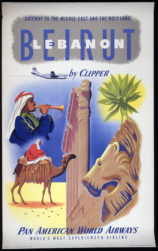 Pan American World Airways Beirut Lebanon by Clipper