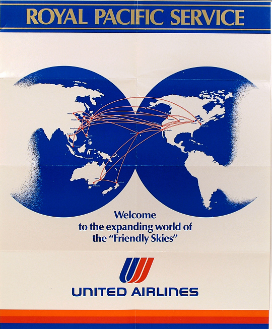 United Airlines Royal Pacific Service