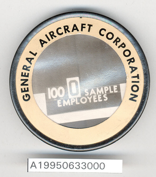 Badge, Identification, General Aircraft Corp.
