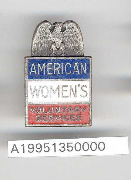 Badge, American Women's Voluntary Services