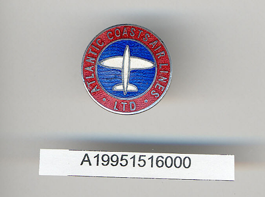 Pin, Lapel, Atlantic Coasts Air Lines Ltd.