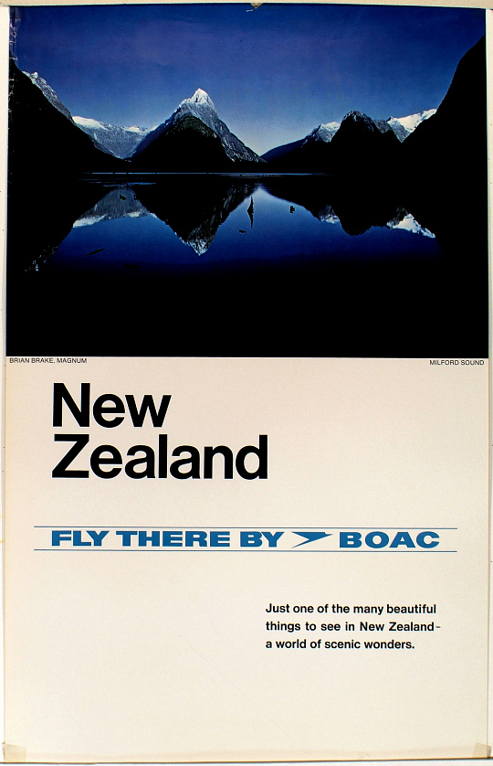 New Zealand Fly There By BOAC