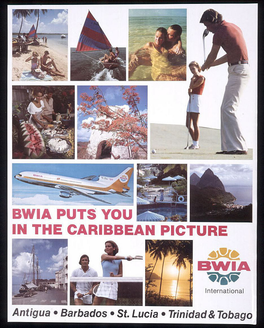 BWIA Puts You In The Caribbean Picture