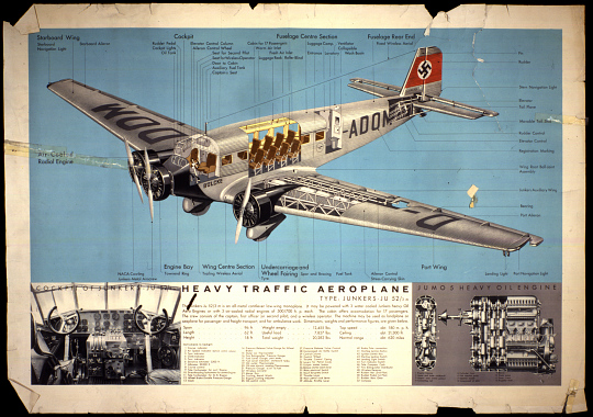 Heavy Traffic Aeroplane Type Junkers- JU 52/3 M